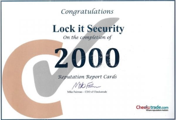 Checkatrade 2000 Locksmith Fareham Customer reviews 600x408 1