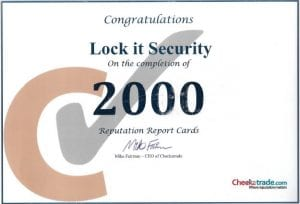 Checkatrade 2000 Locksmith Southampton Customer reviews