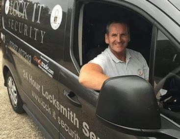 Locksmith Fareham Eddie in His Fareham Locksmiths Van