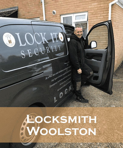 Locksmith-woolston-Eddie in his Van